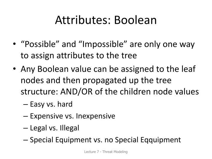 Attributes: Boolean