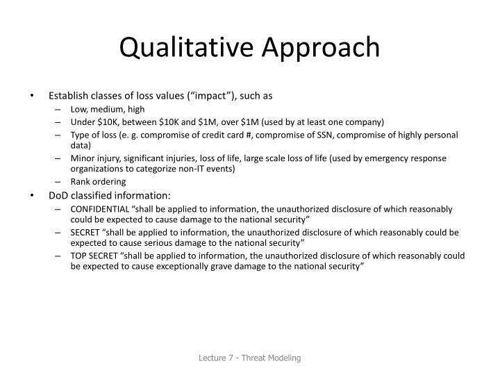 Qualitative Approach