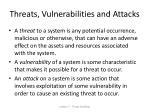 threats vulnerabilities and attacks