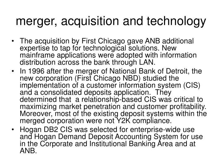 merger, acquisition and technology