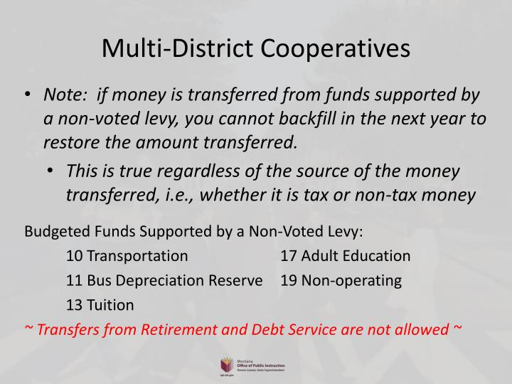 Multi-District Cooperatives