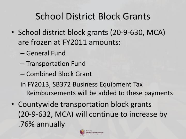 School District Block Grants