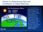 ozone is a greenhouse gas and contributes to global warming