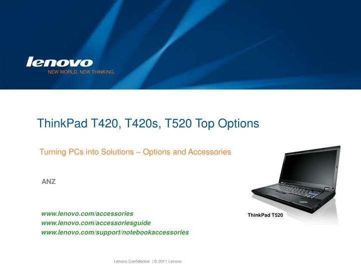 Thinkpad t420 t420s t520 top options