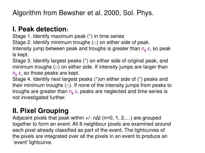 Algorithm from Bewsher et al. 2000, Sol. Phys.