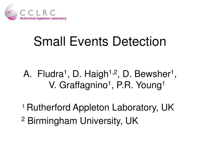 Small events detection