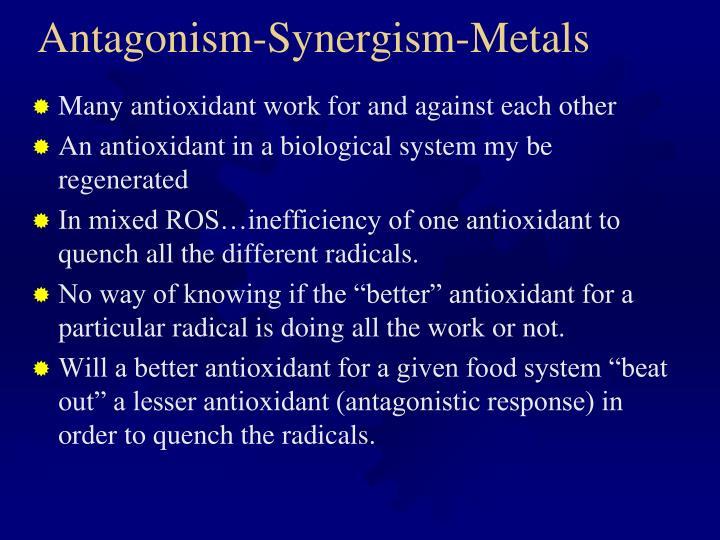 Antagonism-Synergism-Metals