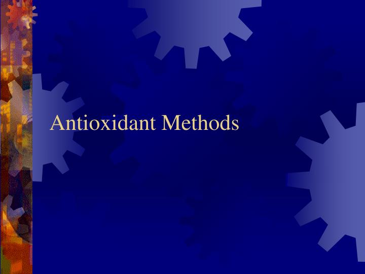 Antioxidant Methods