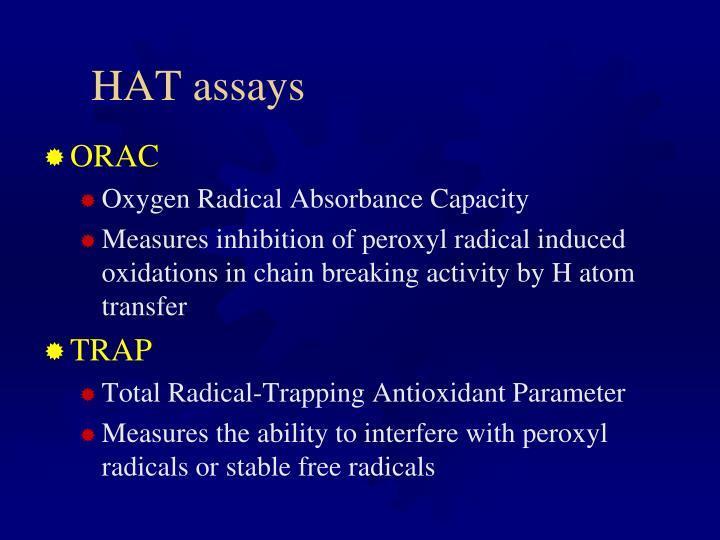 HAT assays