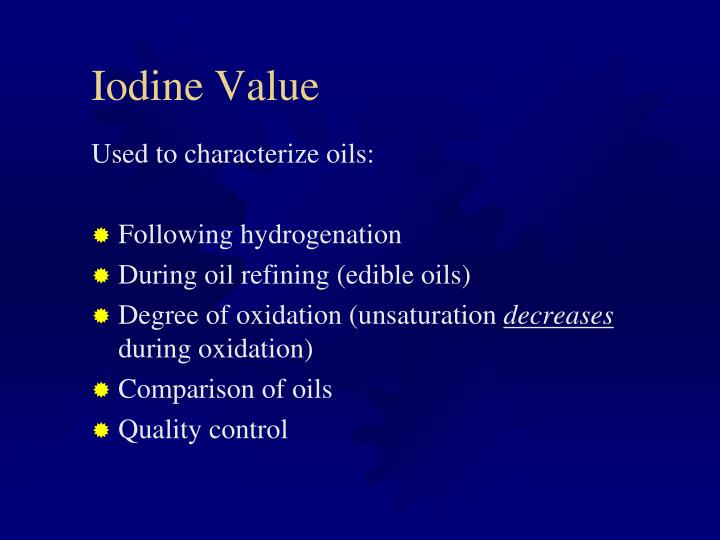 Iodine Value