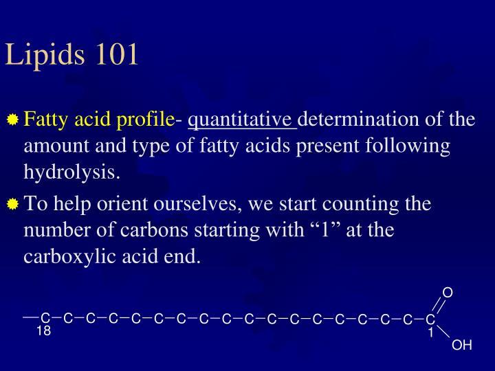 Lipids 101