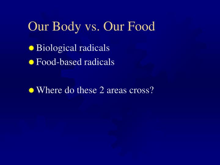 Our Body vs. Our Food