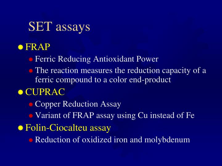 SET assays