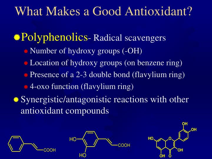 What Makes a Good Antioxidant?