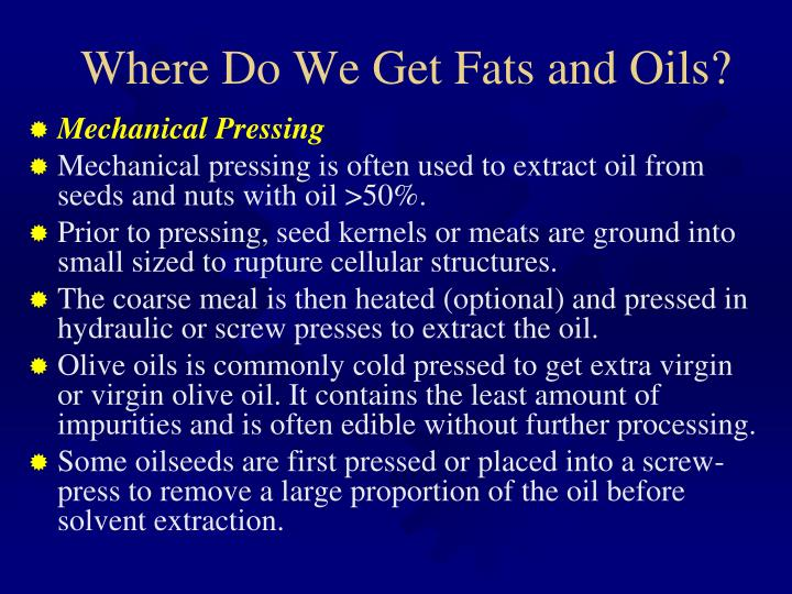 Where Do We Get Fats and Oils?