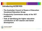 introducing acdeveg