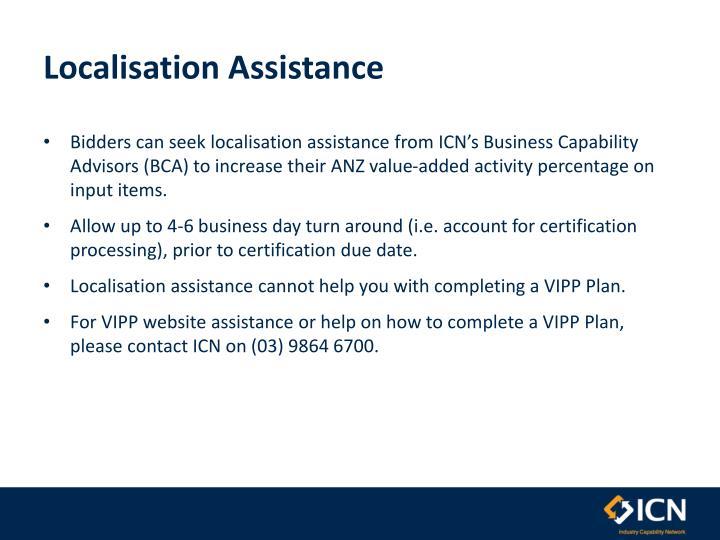 Localisation Assistance