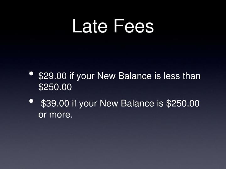 Late Fees