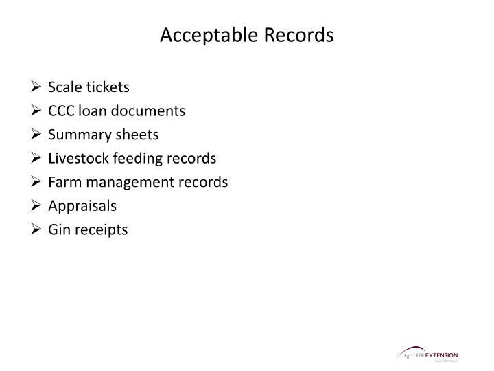 Acceptable Records