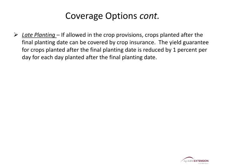 Coverage Options