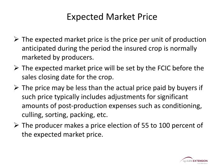 Expected Market Price