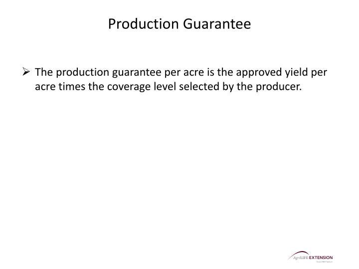 Production Guarantee