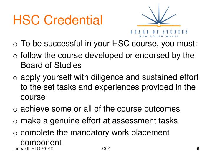 HSC Credential