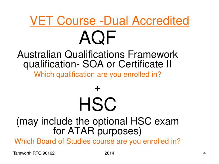 VET Course -Dual Accredited