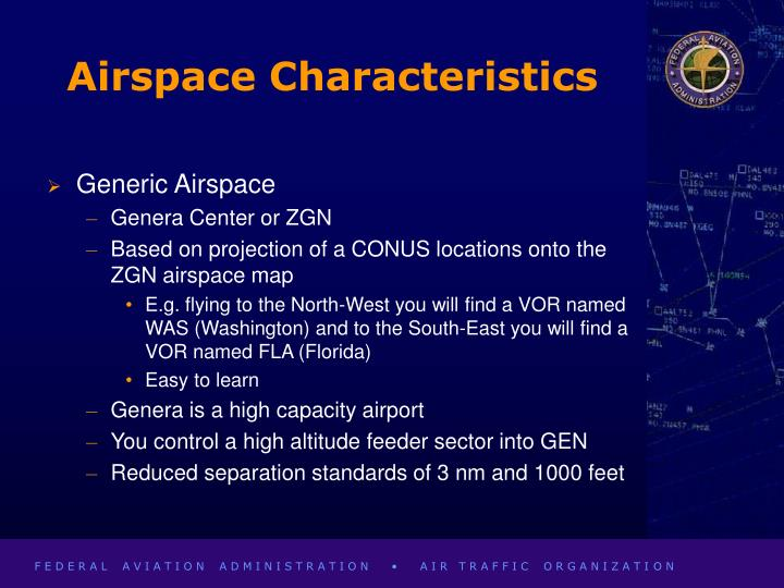 Airspace Characteristics