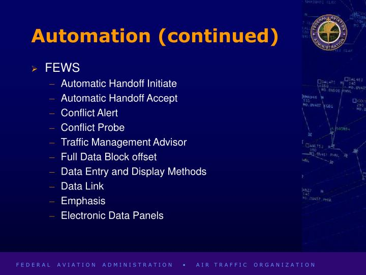 Automation (continued)