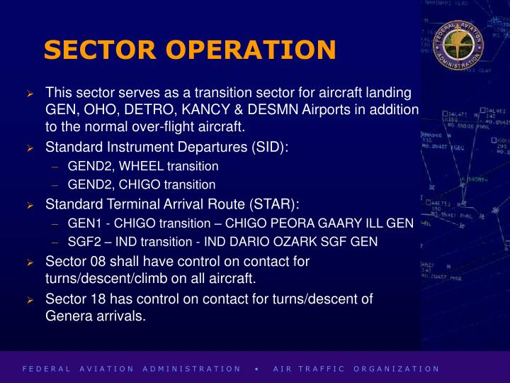 SECTOR OPERATION