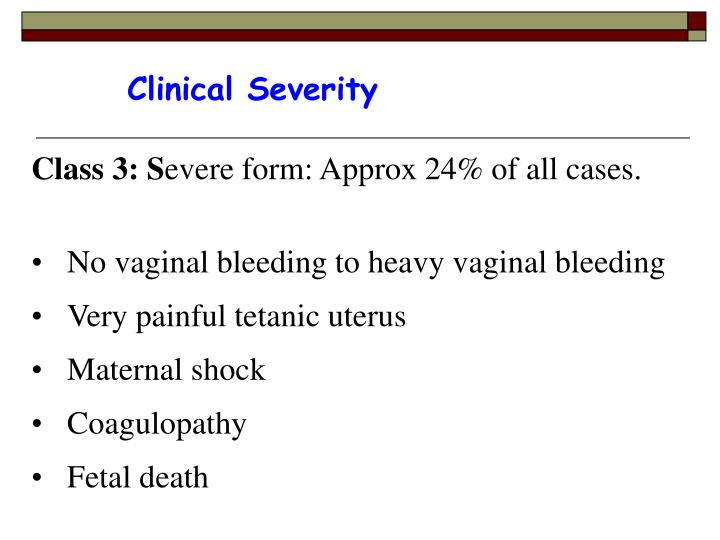 Clinical Severity