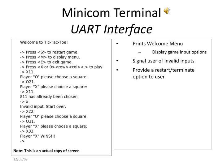 Minicom Terminal