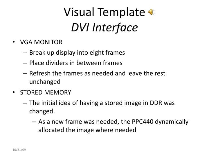 Visual Template