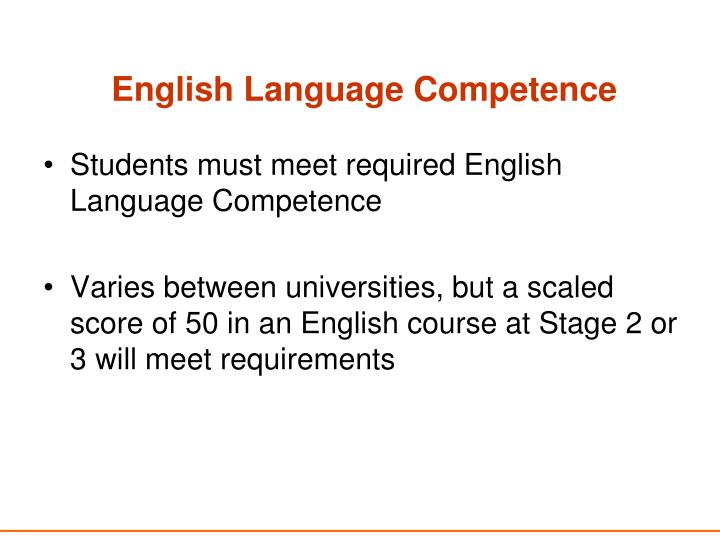 English Language Competence