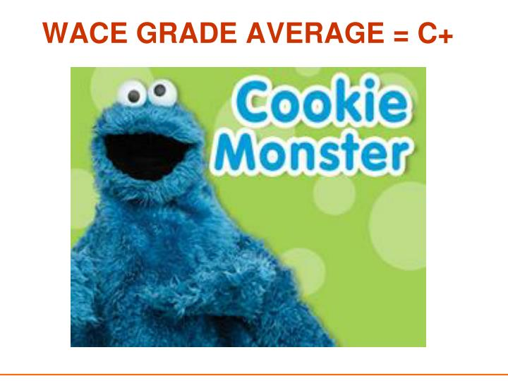 WACE GRADE AVERAGE = C+