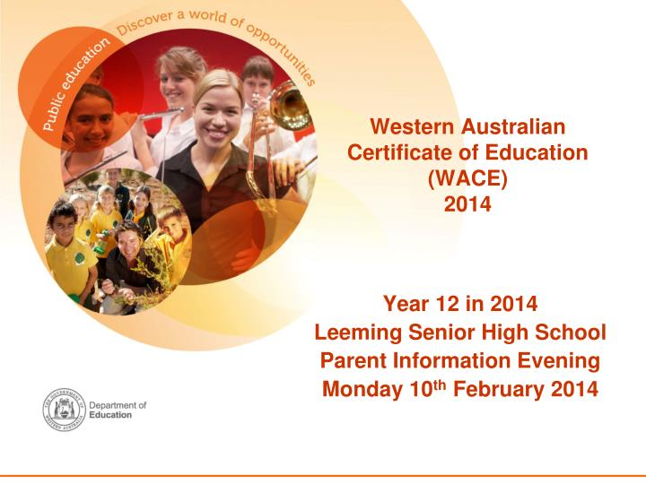 Western australian certificate of education wace 2014