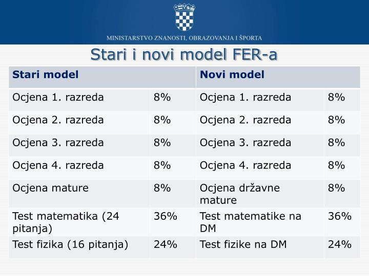 Stari i novi model FER-a