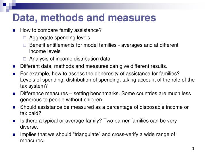 Data methods and measures