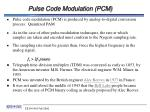 pulse code modulation pcm
