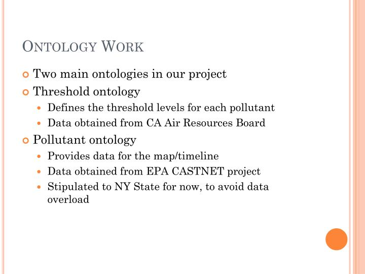 Ontology Work