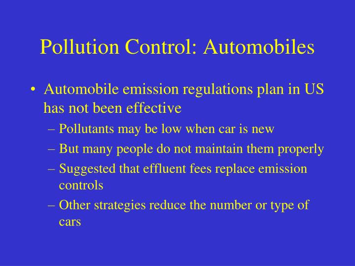 Pollution Control: Automobiles