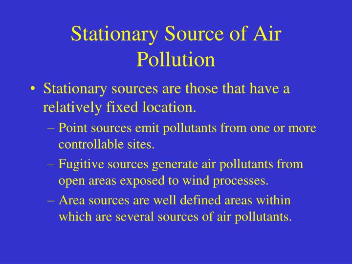 Stationary Source of Air Pollution