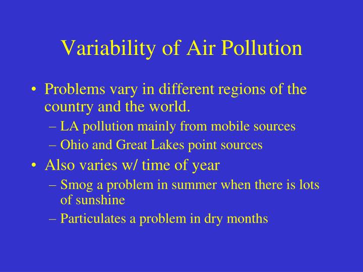 Variability of Air Pollution