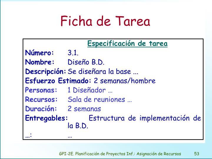 Ficha de Tarea