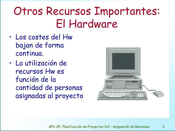 Otros Recursos Importantes: El Hardware