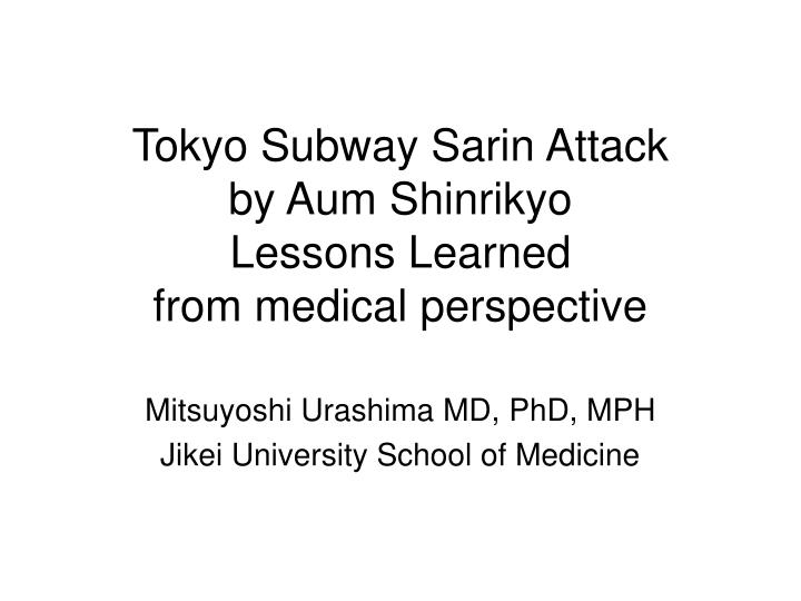 the attack by aum shinrikyo Japan hanged shoko asahara (pictured) on july 6 and six other members of the  aum shinrikyo cult, which killed 13 people in an attack that.