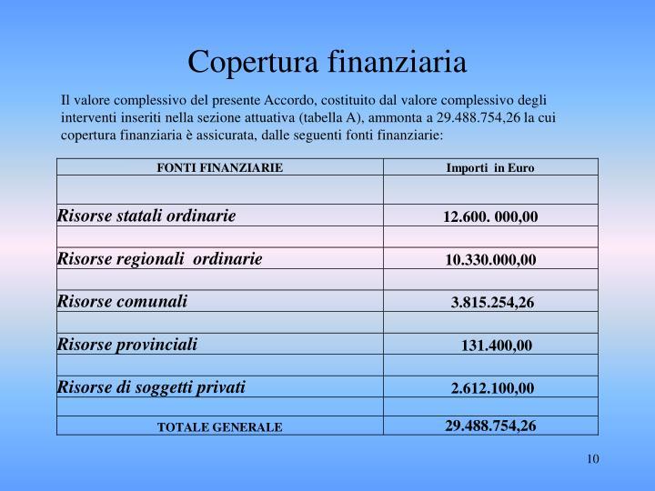 Copertura finanziaria