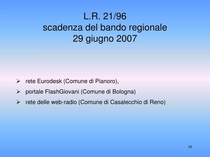 L.R. 21/96
