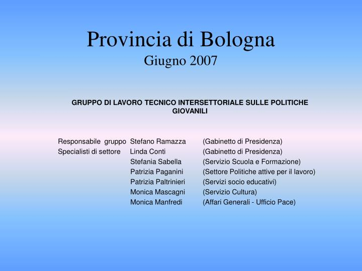 Provincia di Bologna